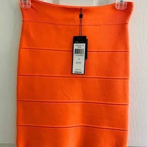BCBGMAXAZRIA Simone Bandage skirt Neonoring Color